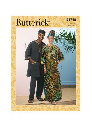 Butterick Schnittmuster - 6748 - Unisex - Kaftan