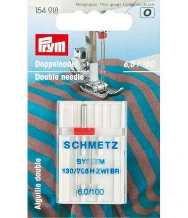 PRYM Doppel-Nähmaschinennadel 130/705 - 6,0/100
