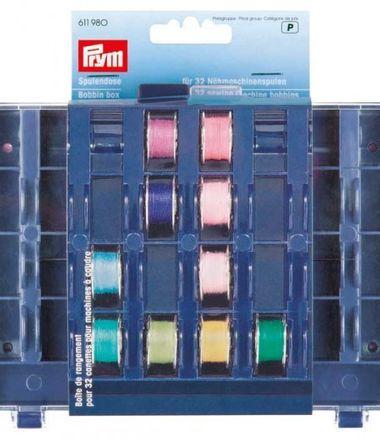 PRYM Spulendose für 32 Nähmaschinenspulen leer