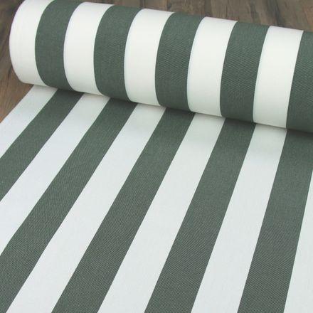 Markisenstoff - Teflonbeschichtet - 160 cm breit - breite Streifen - grau/weiß