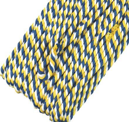 Multicolor Kordel - 6 mm - weiß/gelb-marine