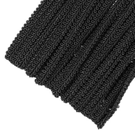 Posamentenborte - 8 mm - schwarz