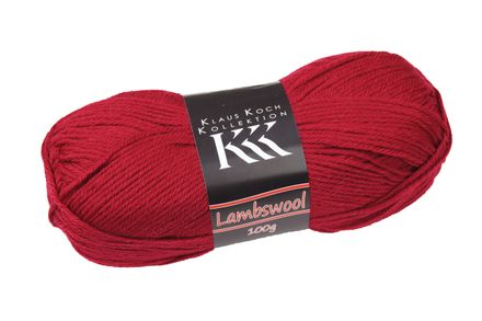Wolle - Lambswool - rot