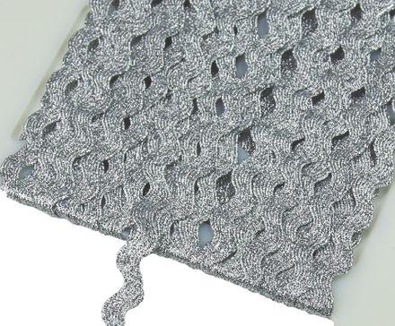 Zackenlitze - 4 mm - silber