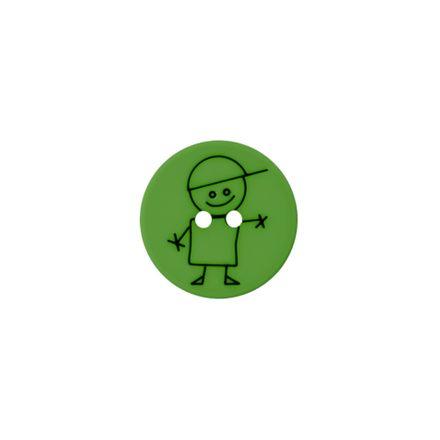 Polyester-Kinderknopf - Junge - grün