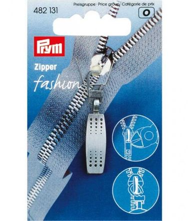 PRYM Fashion-Zipper Matrix - schwarz, gebürstet