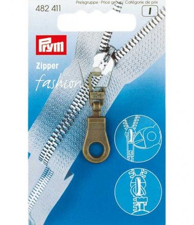 PRYM Fashion-Zipper Öse - altmessing