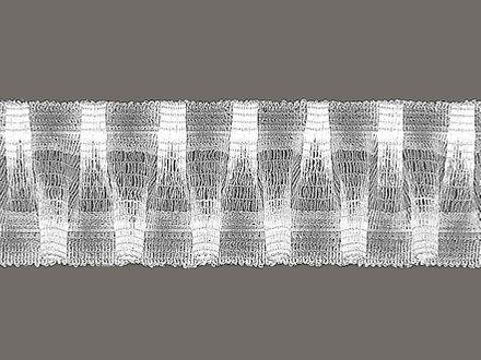 Gardinen-Haftband mit Smoke-Effekt - weiß