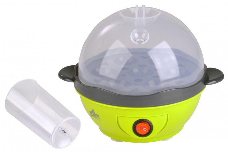 Eierkocher für 7 Eier Trendfarbe lemon grün Messbecher Eipick NEU*34688