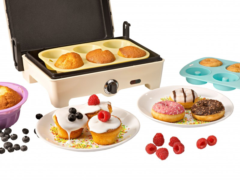 KitchenOriginals HomeBakery Weltneuheit 3 in 1 Miniofen, Partypfanne, Kontaktgrill NEU*30802