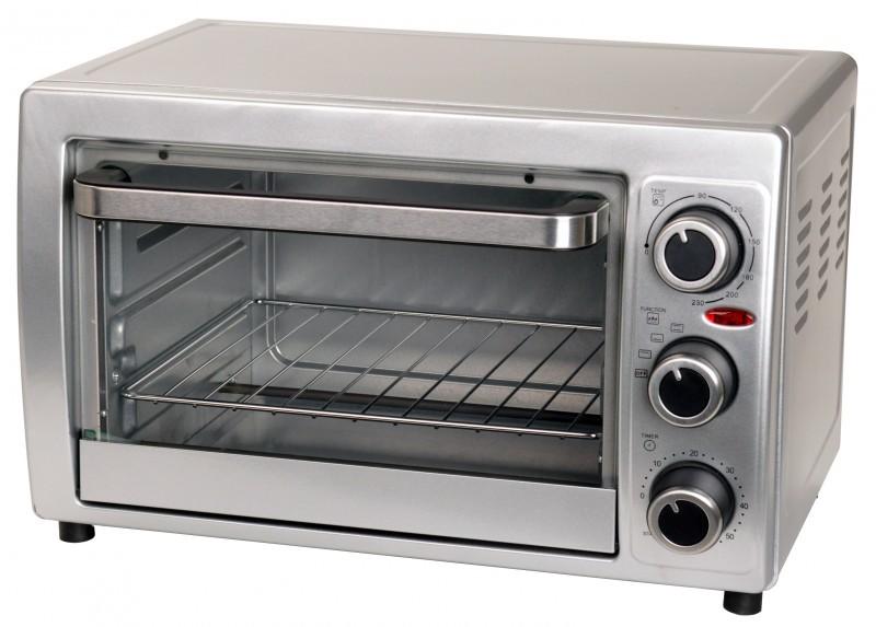 Multibackofen Pizzaofen Timer Thermostat silber 15 Liter 1300Watt NEU*14954