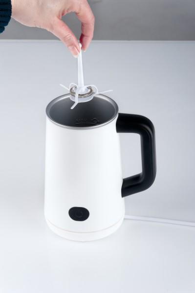 Milchaufschäumer heißt/kalt Milchschäumer elektrisch für Cappuccino Aufwärmfunktion NEU*92440 004