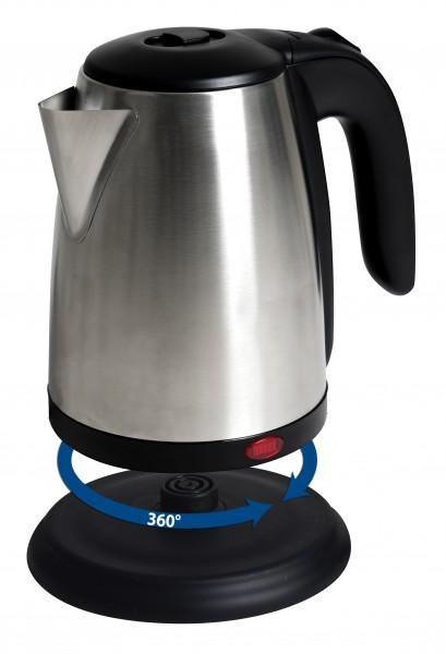 Edelstahl-Wasserkocher 1,7 Liter schnurlos 2200 Watt Verdecktes Heizelement NEU*06333 Bild 3