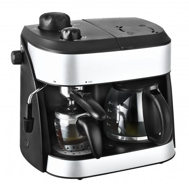 2in1 Espressomaschine Kaffeemautomat Milchaufschäumer Cappuccino NEU*37467