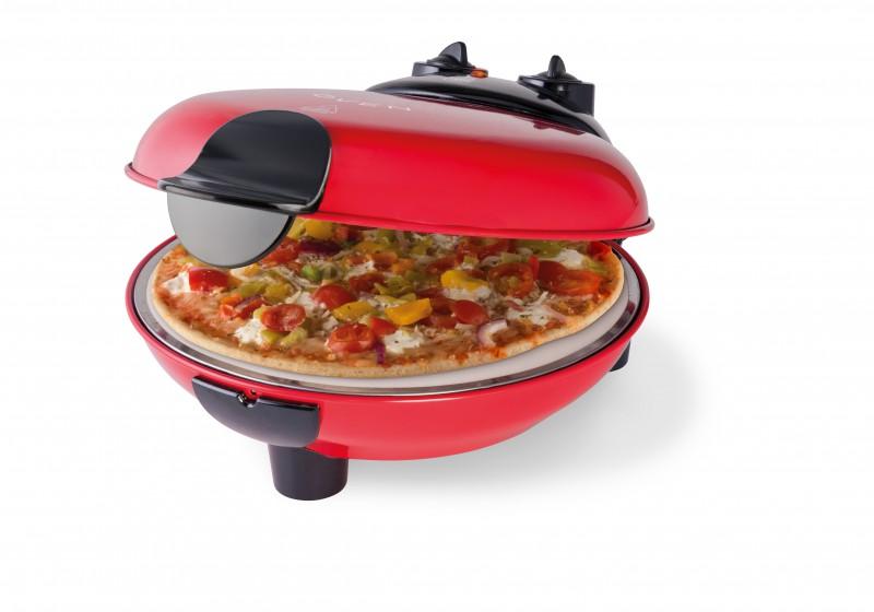 Pizzaofen Minibackofen inkl. Pizzastein rot *92297
