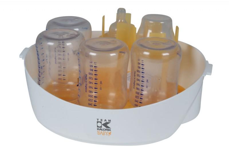 Babyflaschensterilisator Mikrowellen-Dampfsterilisator 5Flaschen inkl.Zange(Karton beschädigt)*06982 Bild 2