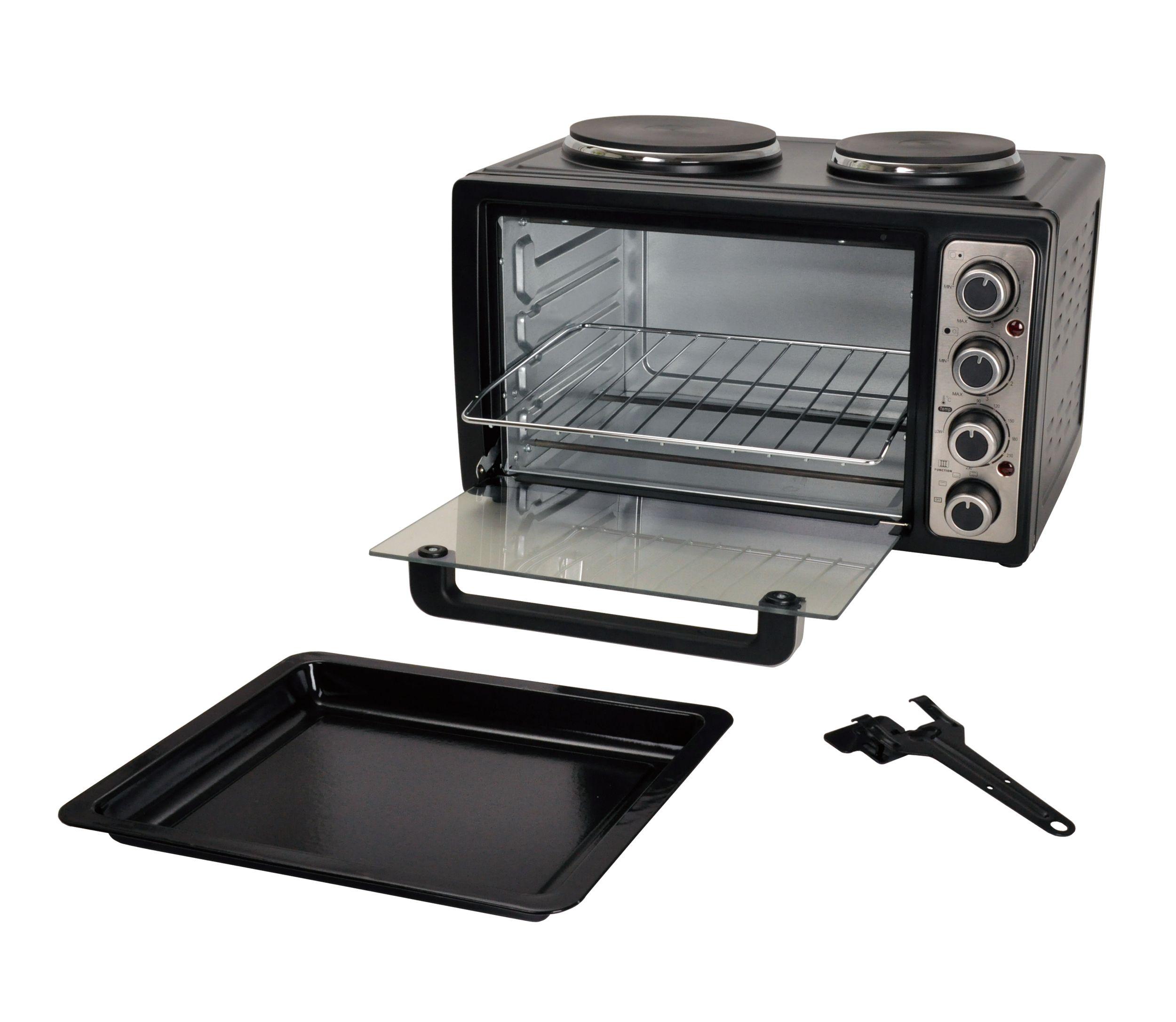 Kleinküche Backofen Kochplatten Miniofen 28Liter Doppelkochplatte NEU*34923 Bild 4