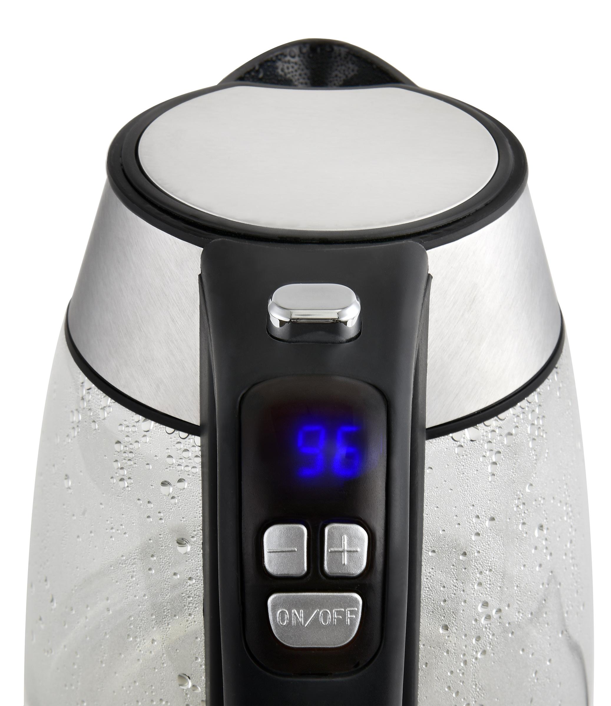 Regelbarer Glas-Wasserkocher 1,7L digitale Steuerung LED-Beleuchtung NEU*35319 Bild 5