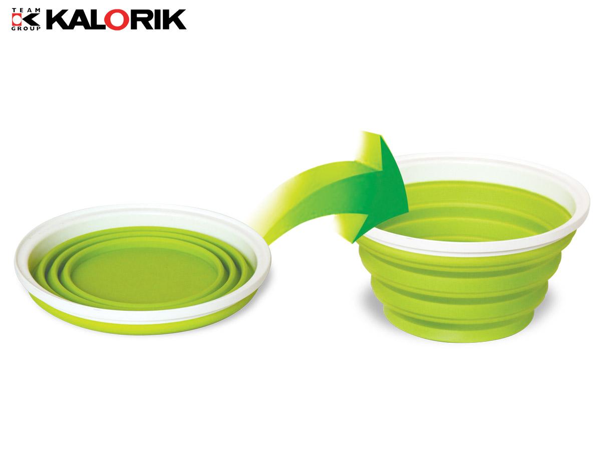 Digitale Küchenwaage inkl faltbarer Silikonschüssel bis 5 kg grün weiß NEU*91813 Bild 6