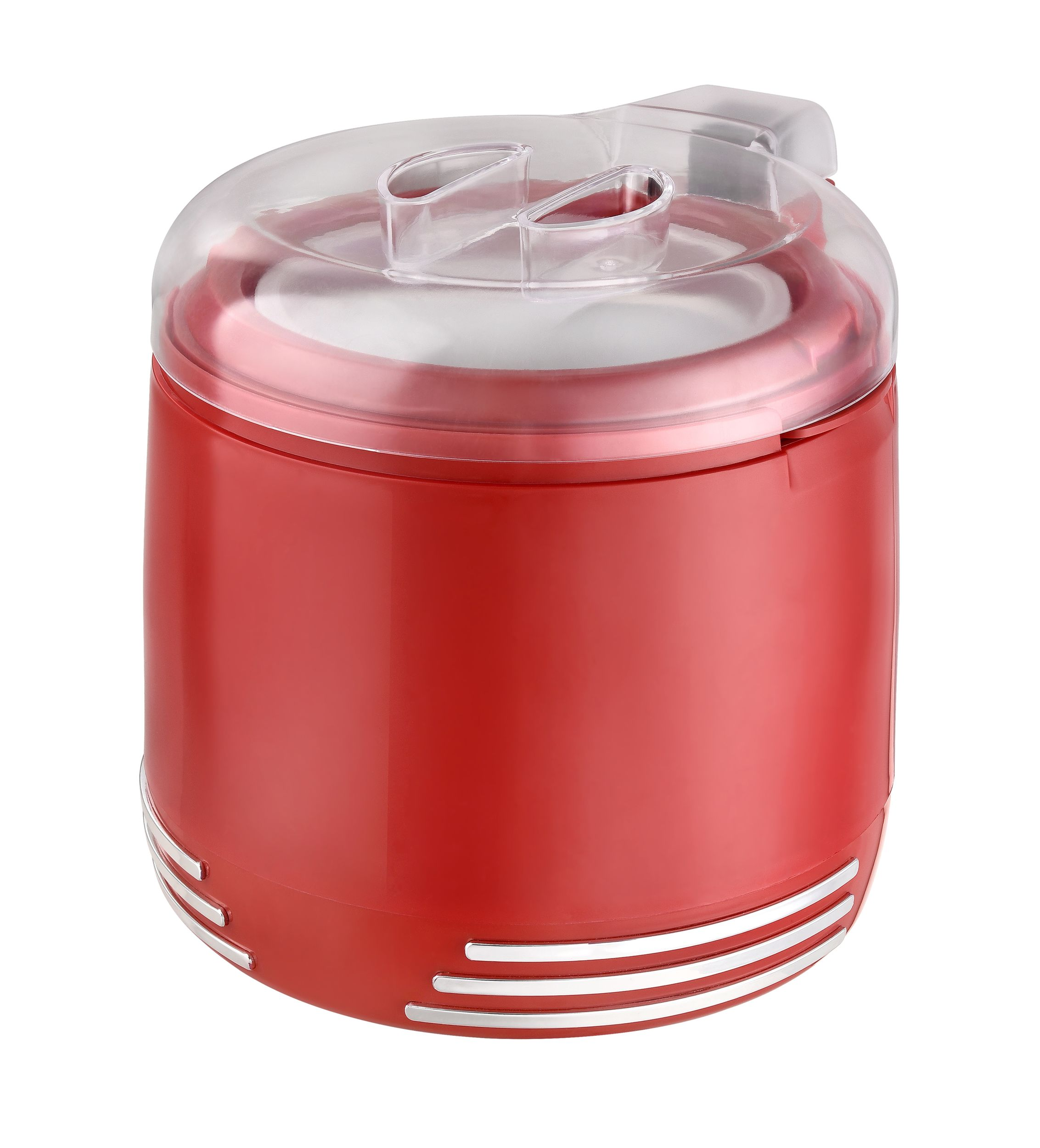 2 in 1 Retro Eismaschine Joghurtbereiter Eiscreme Joghurt Maker Kühlgefäß rot NEU 15 W *94074 Bild 6