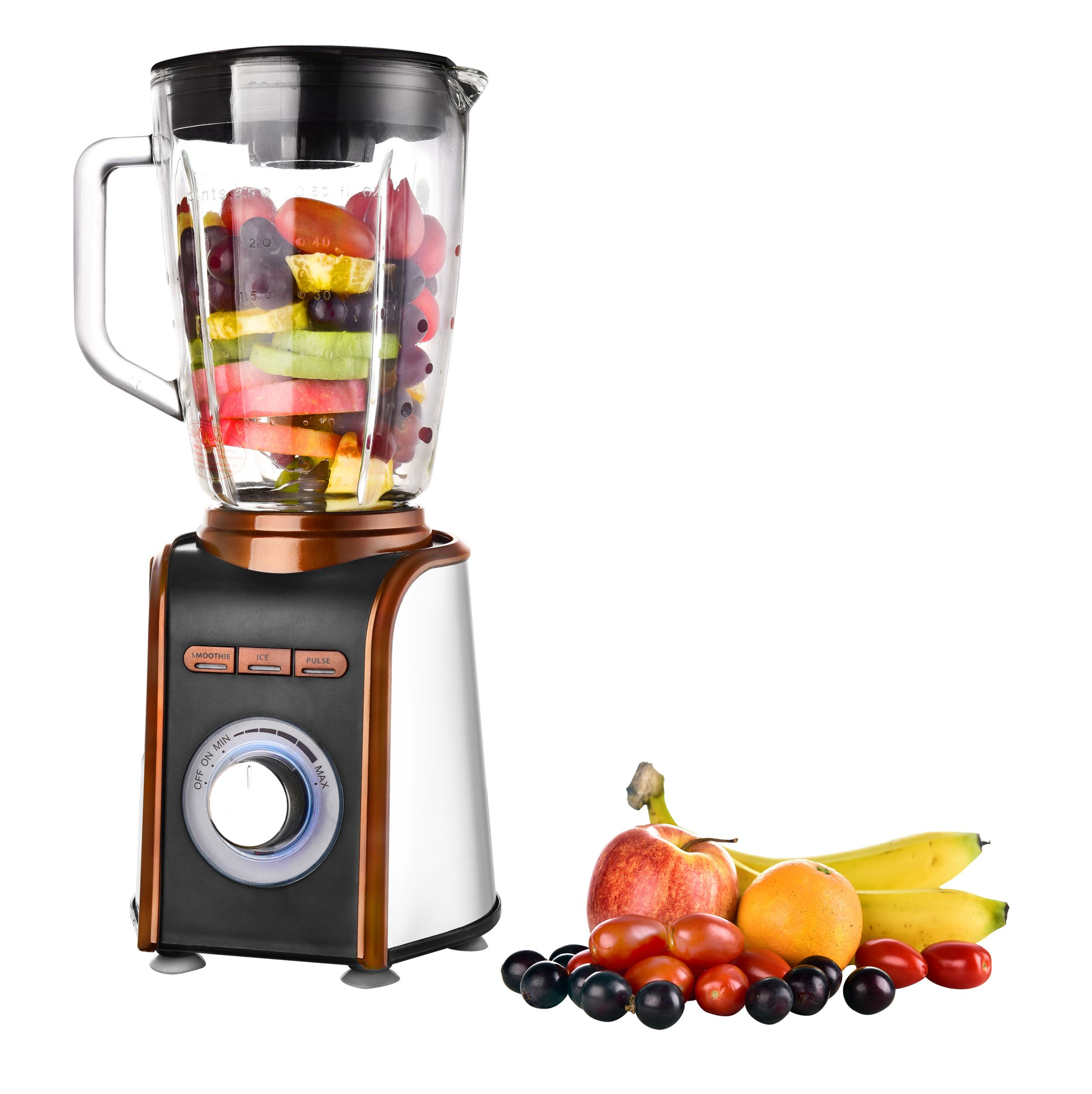 Standmixer Blender Smoothiemaker Cocktailmixer Glaskrug Eis Crusher 1,5 Liter 700 W NEU*94227 Bild 4