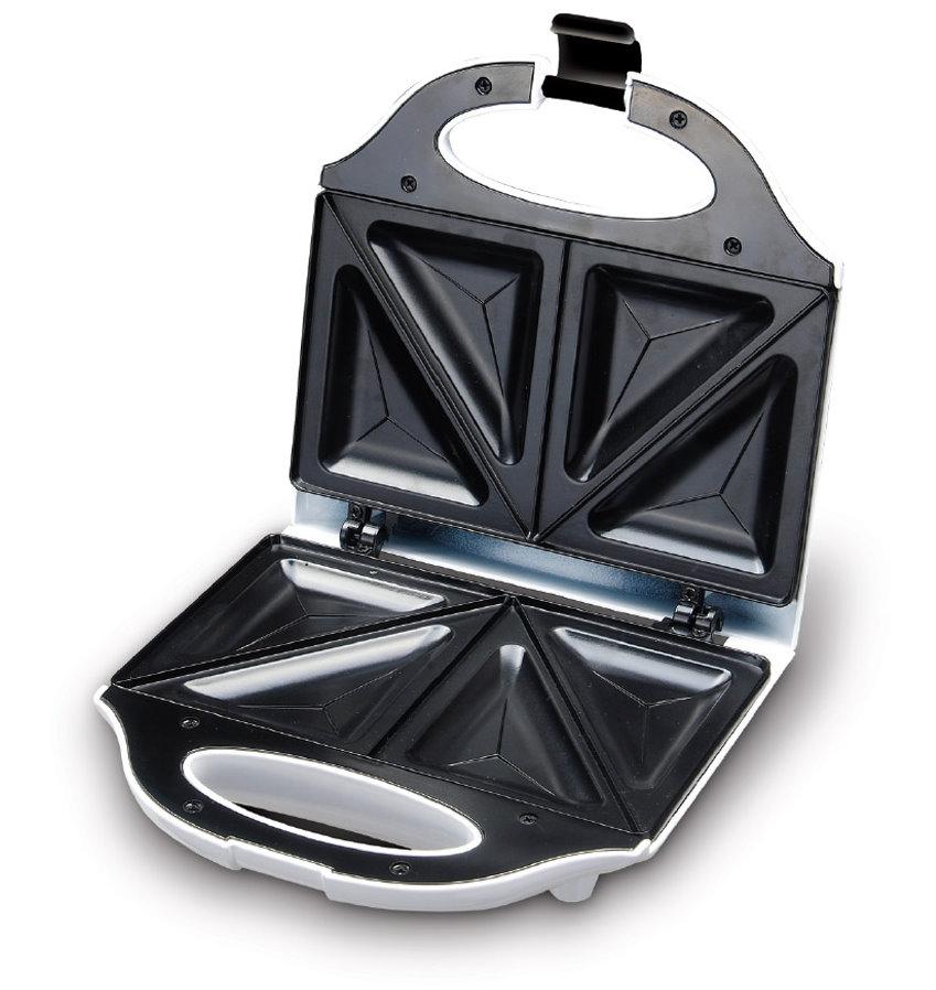 Design Sandwichmaker elektrischer Sandwichtoaster weiß 750 W Antihaft (Karton beschädigt)*88738