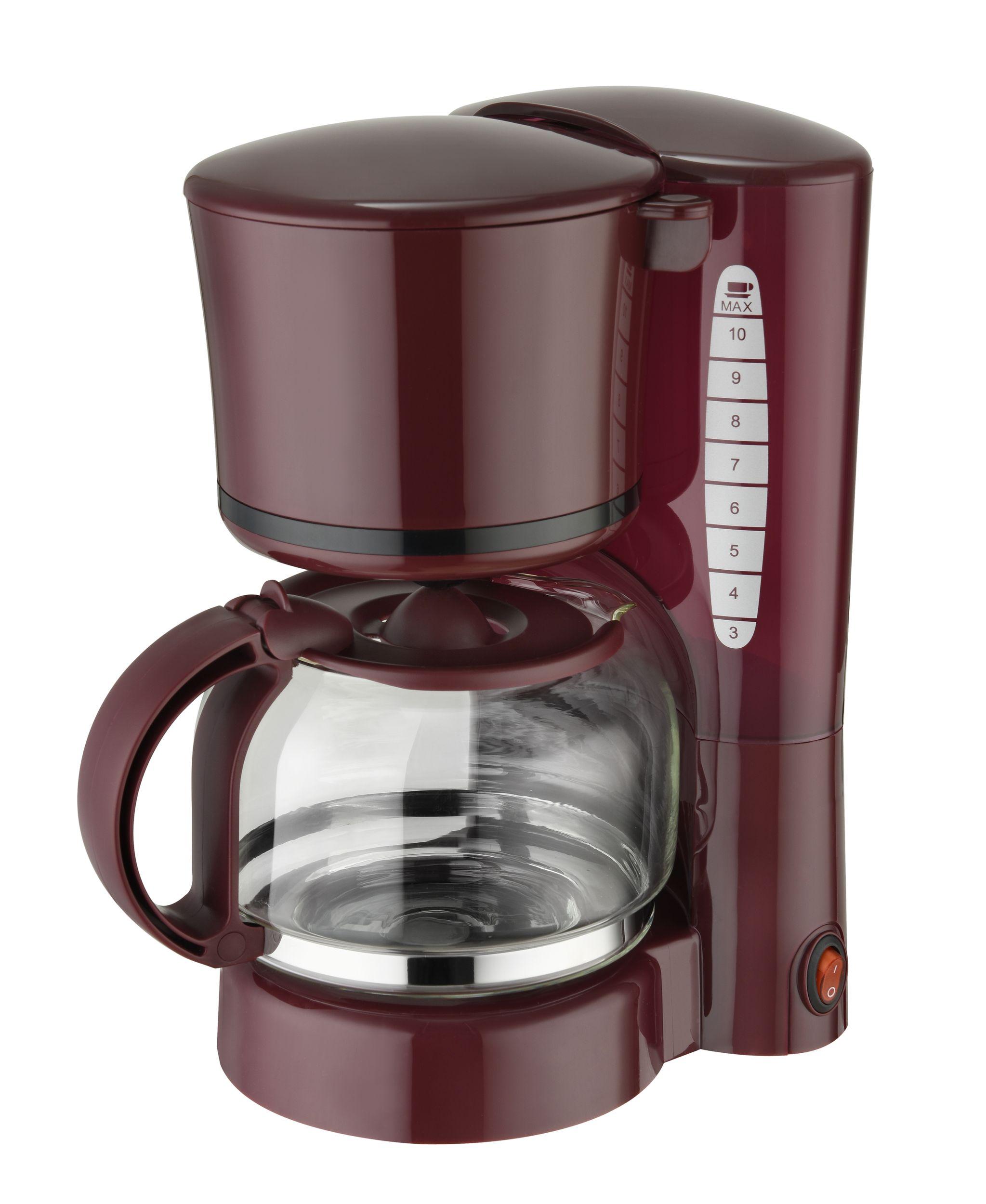 Frühstücksset 3-teilig Toaster Wasserkocher 1 Liter Kaffeemaschine 1,25 Liter Weinrot Bordeaux Bild 4