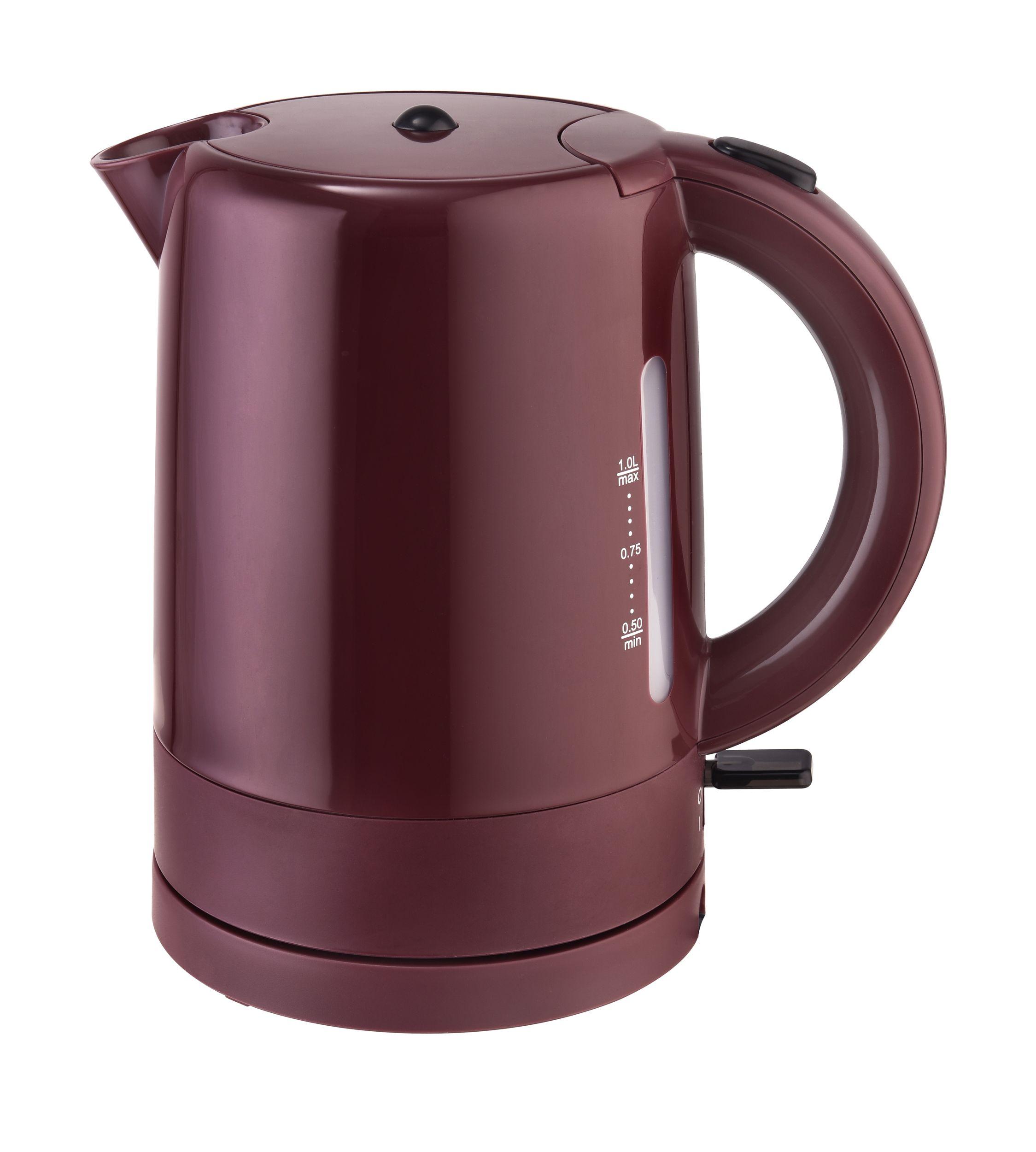 Frühstücksset 3-teilig Toaster Wasserkocher 1 Liter Kaffeemaschine 1,25 Liter Weinrot Bordeaux Bild 2