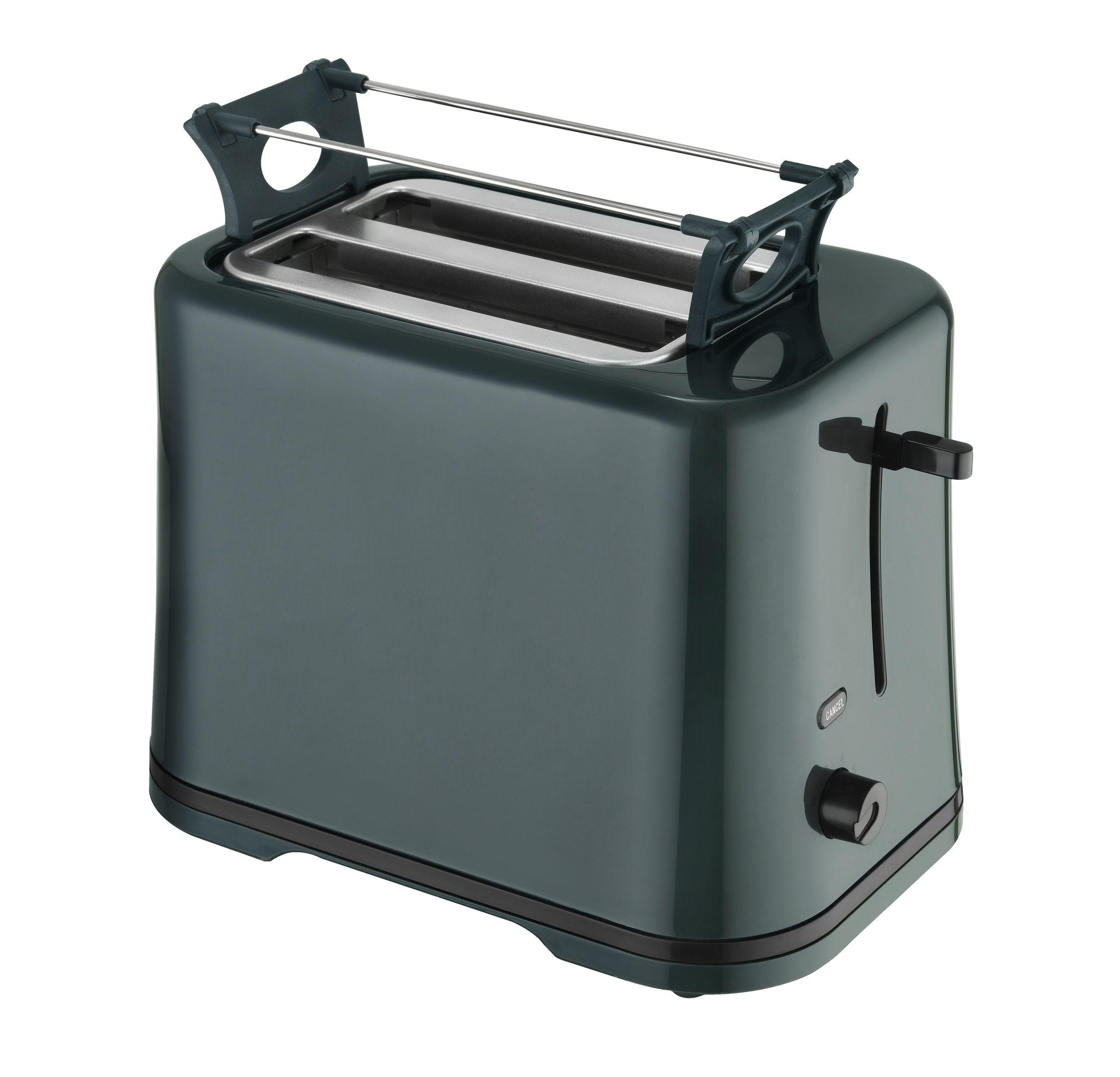 Frühstücksset 3-teilig Toaster Wasserkocher 1 Liter Kaffeemaschine 1,25 Liter Dunkelgrün Bild 3