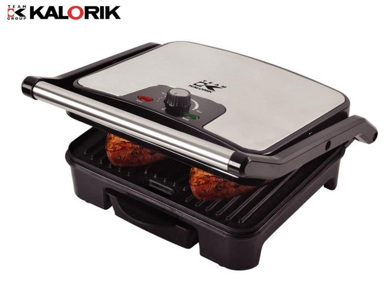 Elektrogrill Kontaktgrill Paninimaker Sandwichtoaster Temperaturregelung (Karton beschädigt)*94159 Bild 3