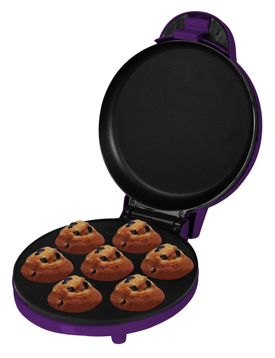 Muffinmaker Muffin Bäcker 7 Muffins elektrisch lila 700 W (Karton beschädigt)*22968