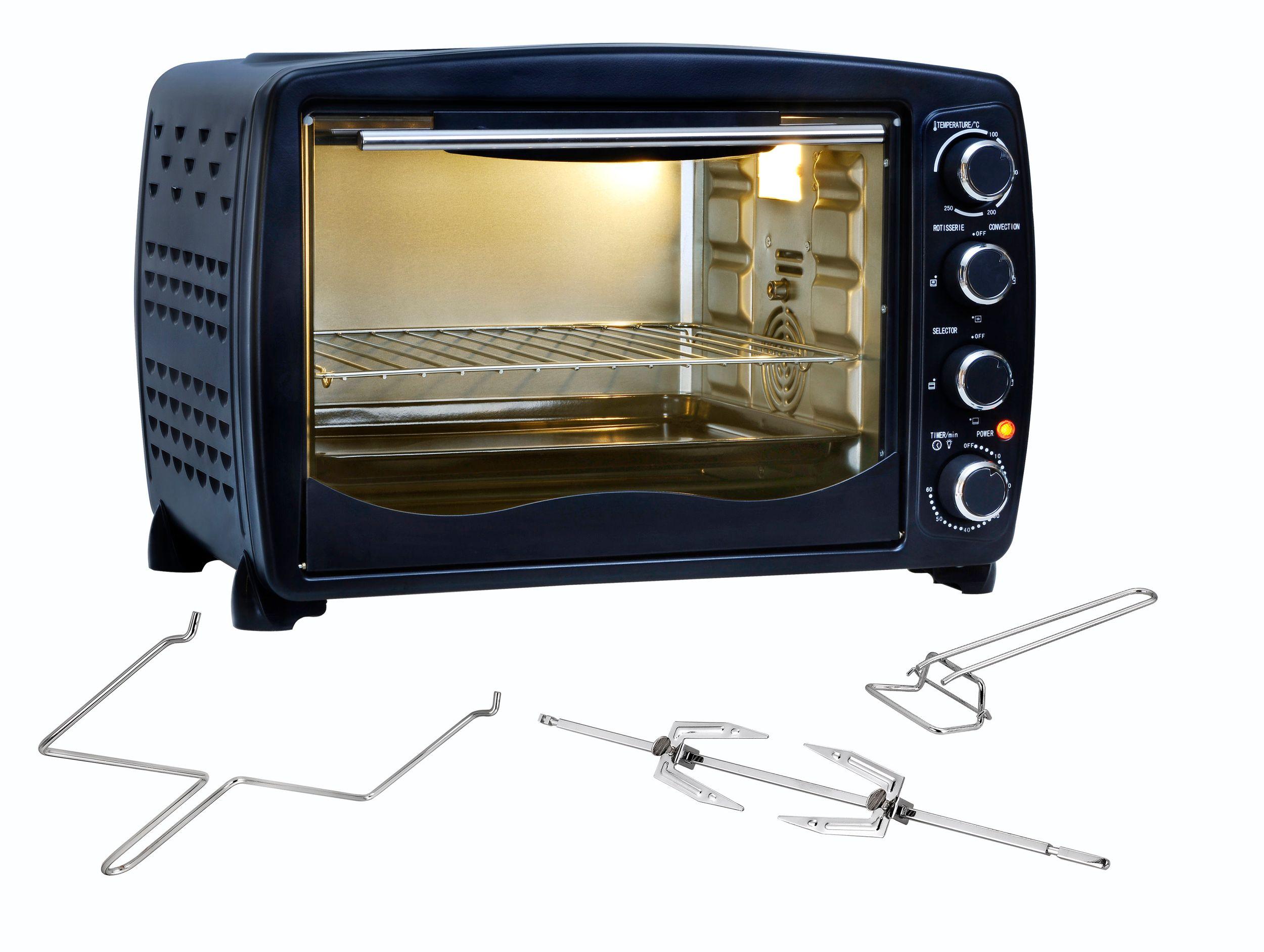 Multiofen 40L Drehspieß Grillfunktion Umluft Beleuchtung Thermostat bis 250°C schwarz NEU*74786 Bild 2