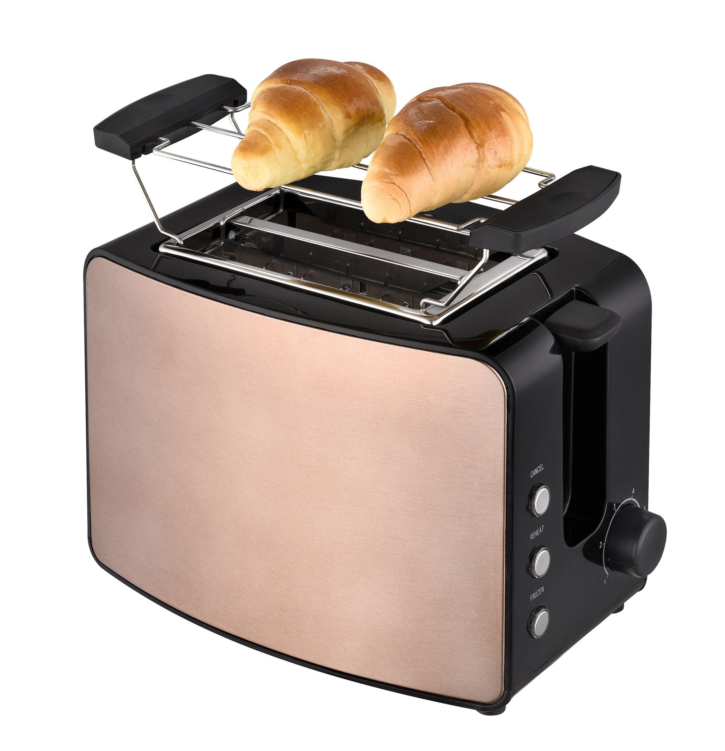 2-Scheiben Toaster Brotröster Brötchenaufsatz kupfer Havanna braun NEU OVP*73109