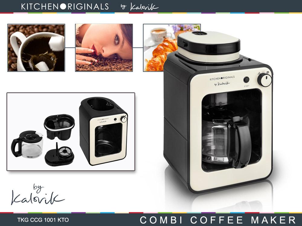 2 in 1 Kaffeeautomat Mahlwerk Kaffee Vollautomat Kaffeebohnen Mühle Glaskanne 5 Tassen 0,6L*59967