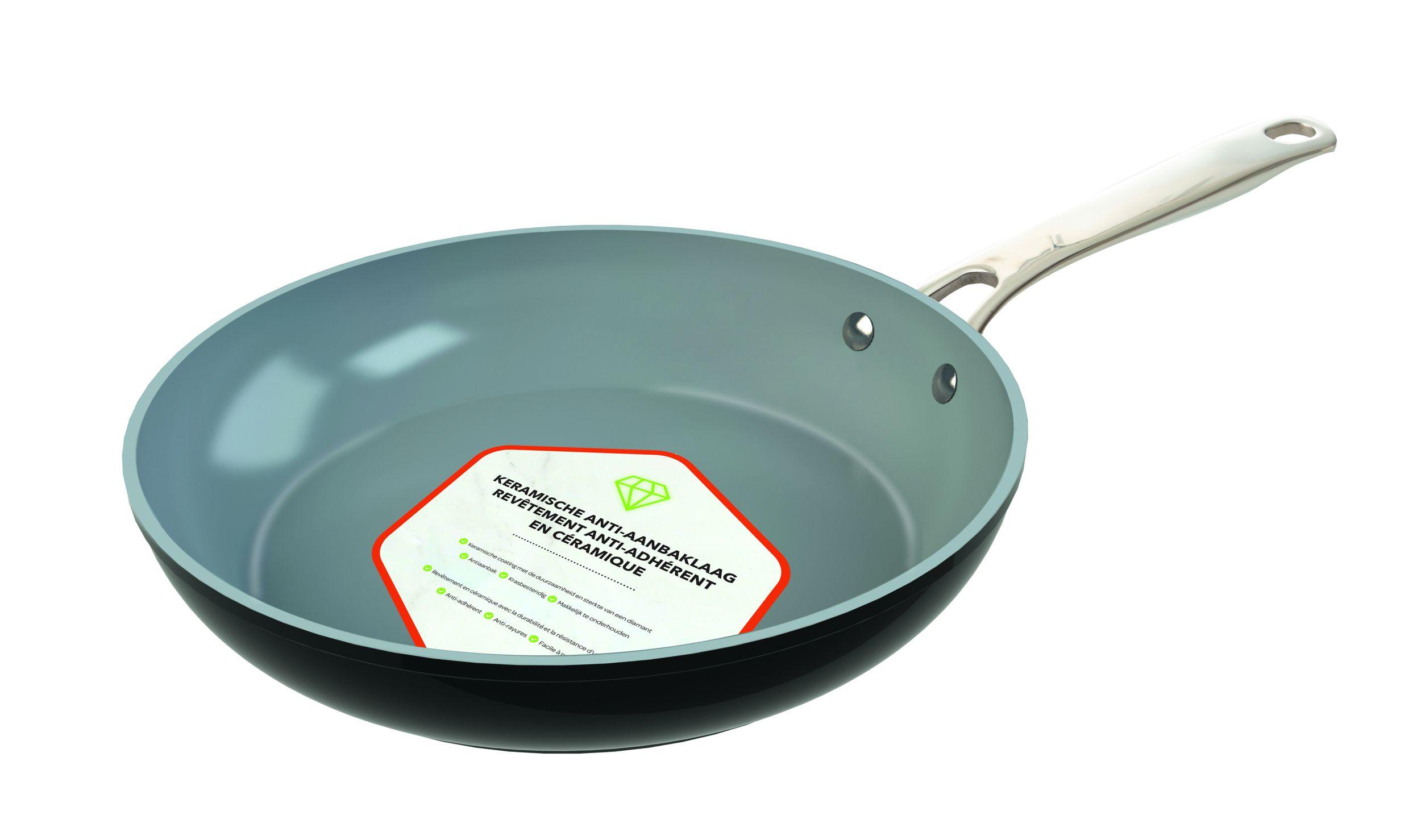 LAGUIOLE Bratpfanne Grillpfanne 28cm Stielpfanne Keramik nonstick Induktion inkl.Pfannenschutz*00870 Bild 4