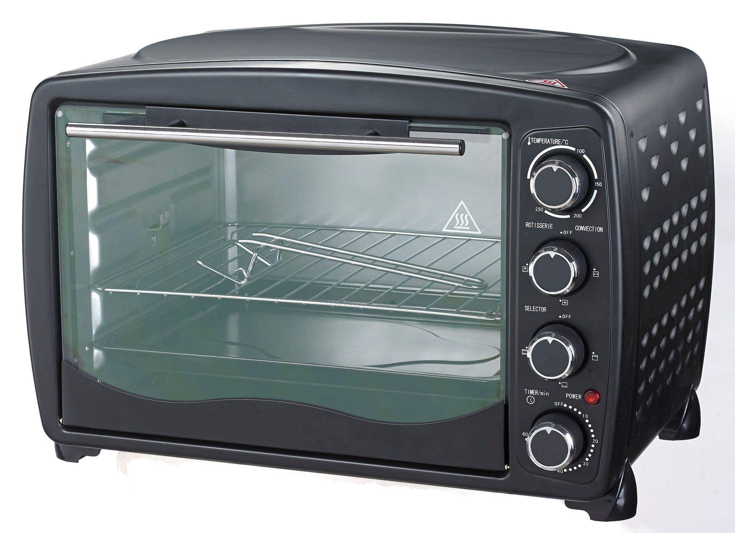 Multiofen 40L Drehspieß Grill Umluft Beleuchtung bis 250°C schwarz (Karton beschädigt)*28601 Bild 4
