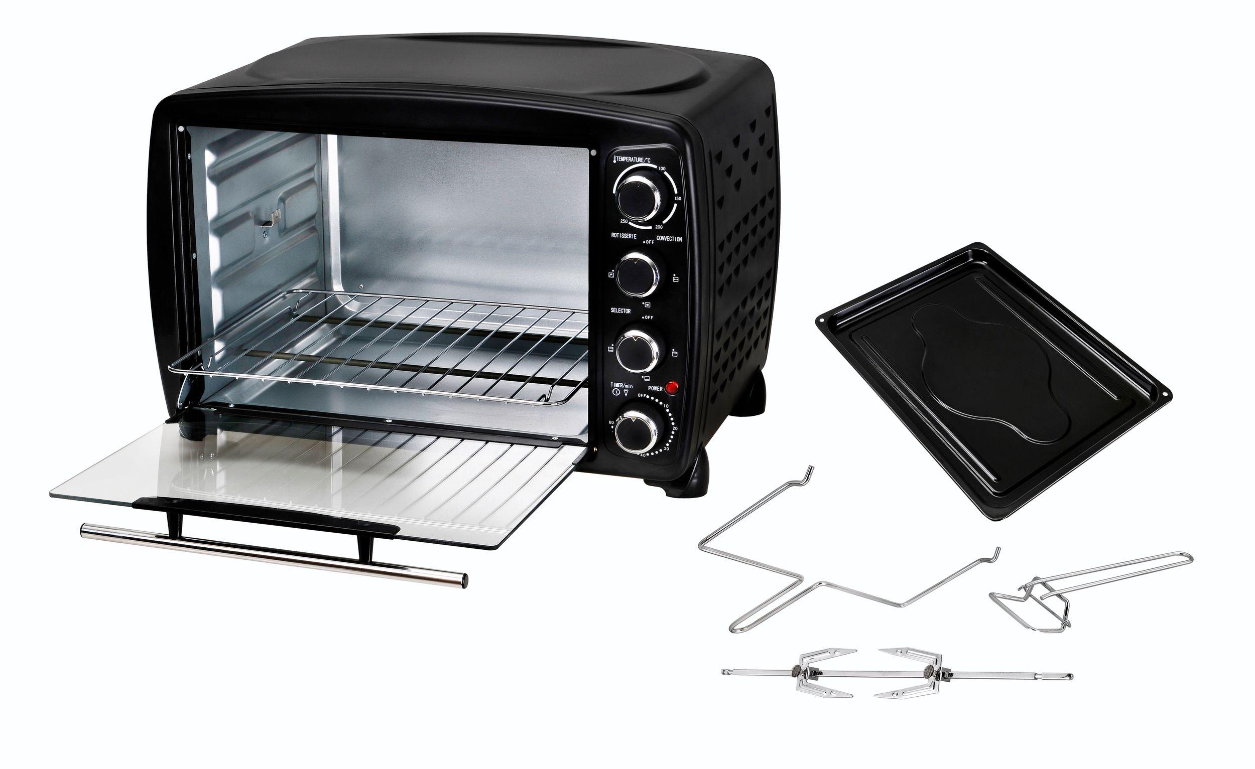 Multiofen 40L Drehspieß Grill Umluft Beleuchtung bis 250°C schwarz (Karton beschädigt)*28601 Bild 5