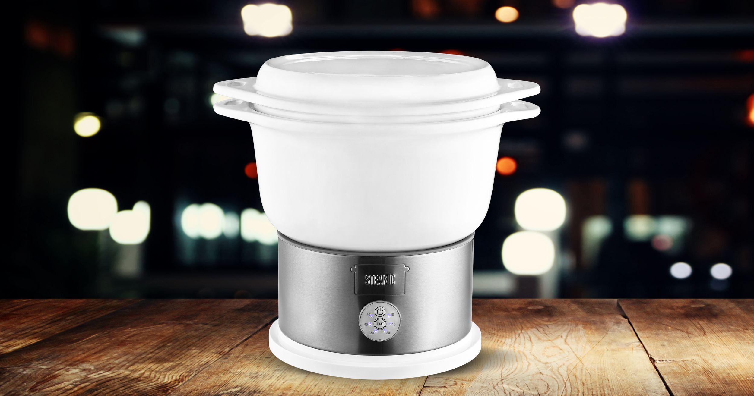 KERAMIK Dampfgarer BPA-frei Timer One-Touch-Bedienung 4,5 L (Karton beschädigt)*40382