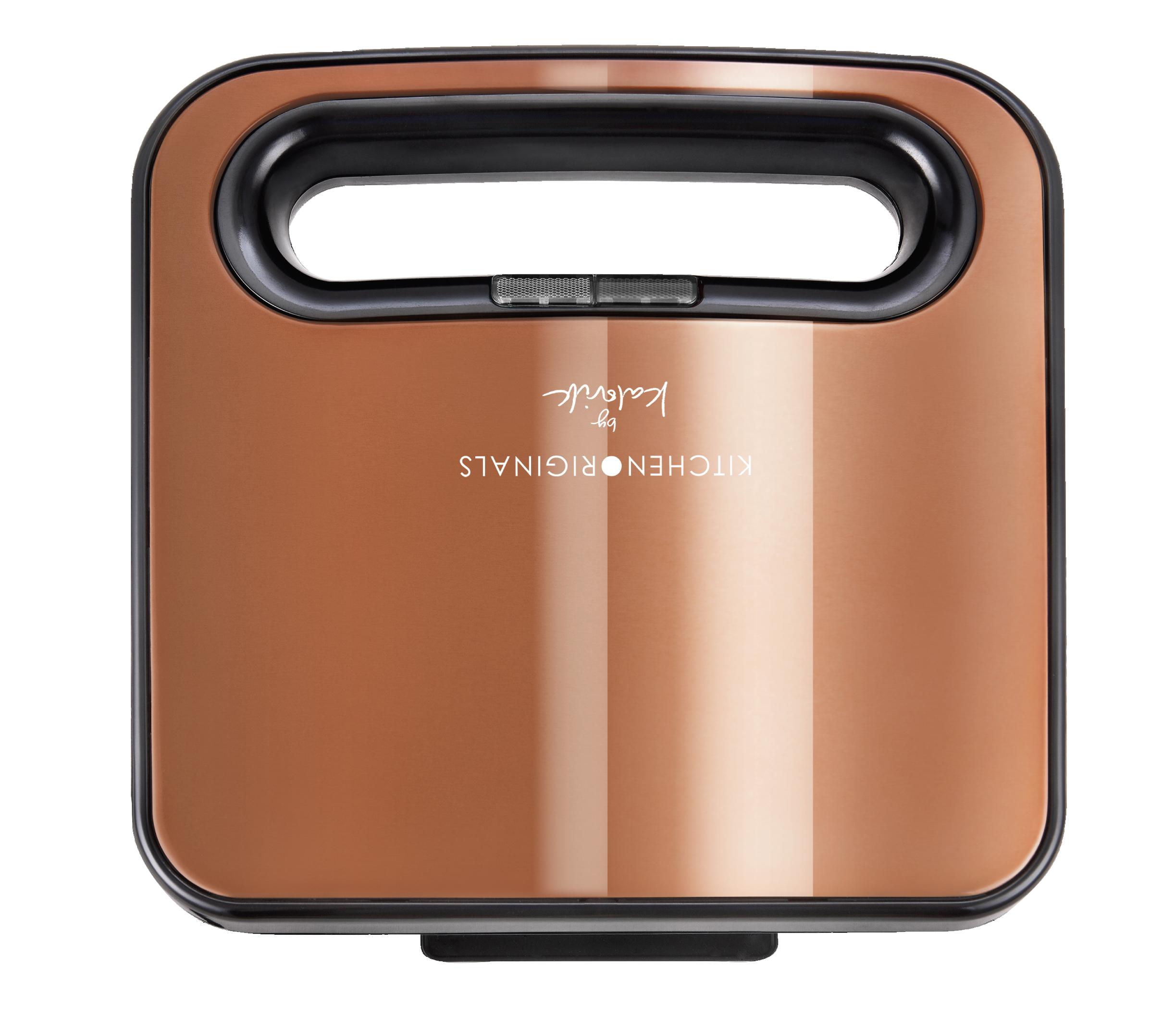 Sandwichmaker Sandwichtoaster American Sandwich Antihaftbeschichtung Copper Kupfer NEU*49203