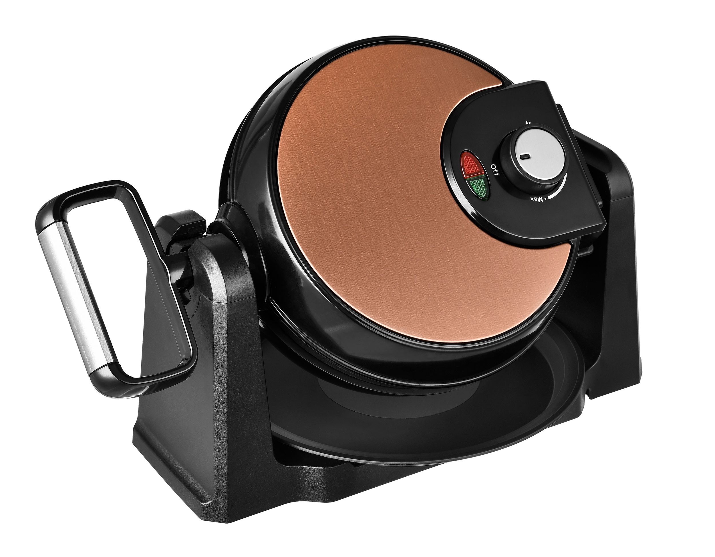 Drehbares Wende Waffeleisen Wafflemaker Antihaft Copper Kupfer Thermostat NEU*49197 Bild 3