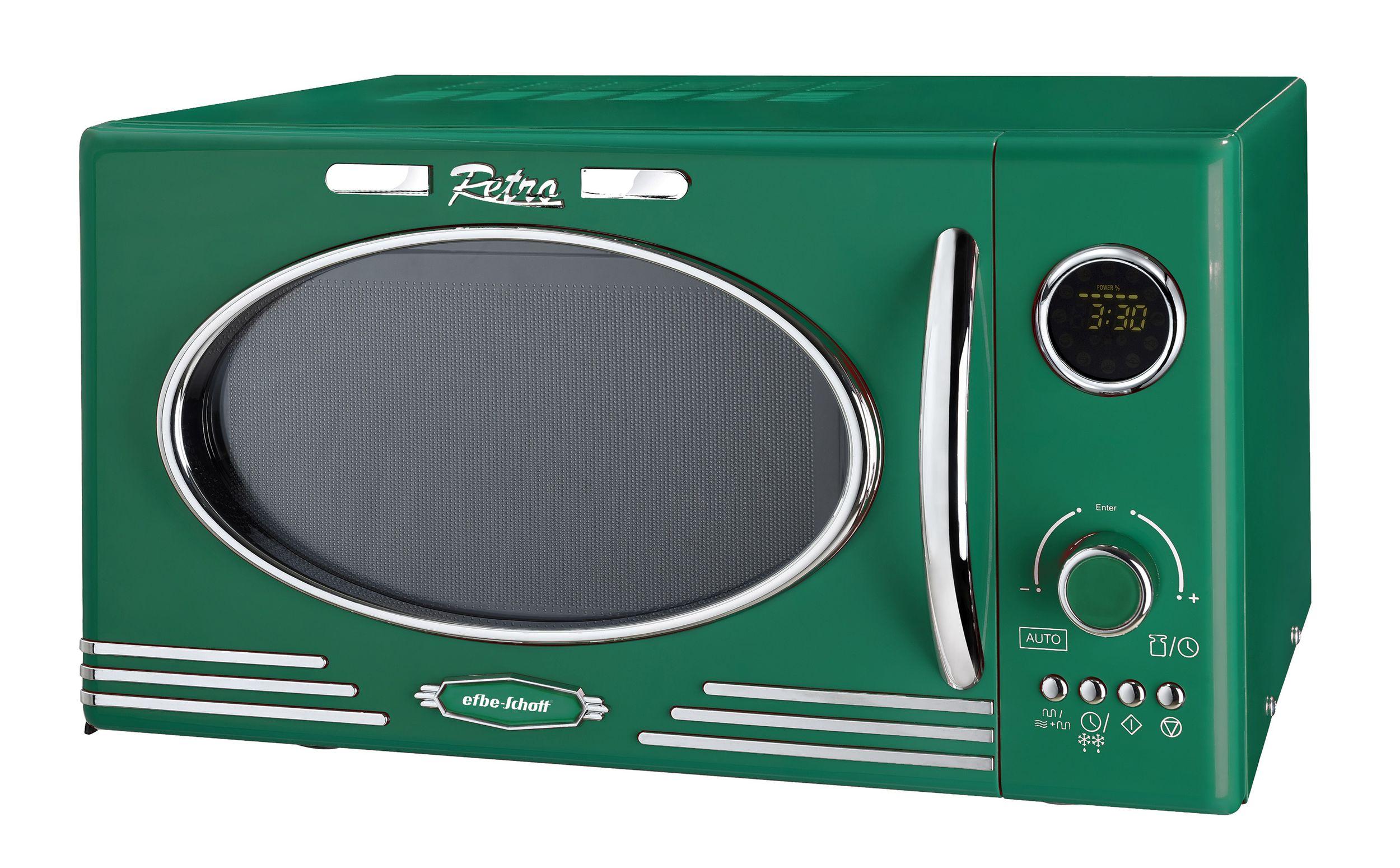 Retro Mikrowelle 1000Watt Grill 25 Liter dunkelgrün Vintage(Karton beschädigt)*63674