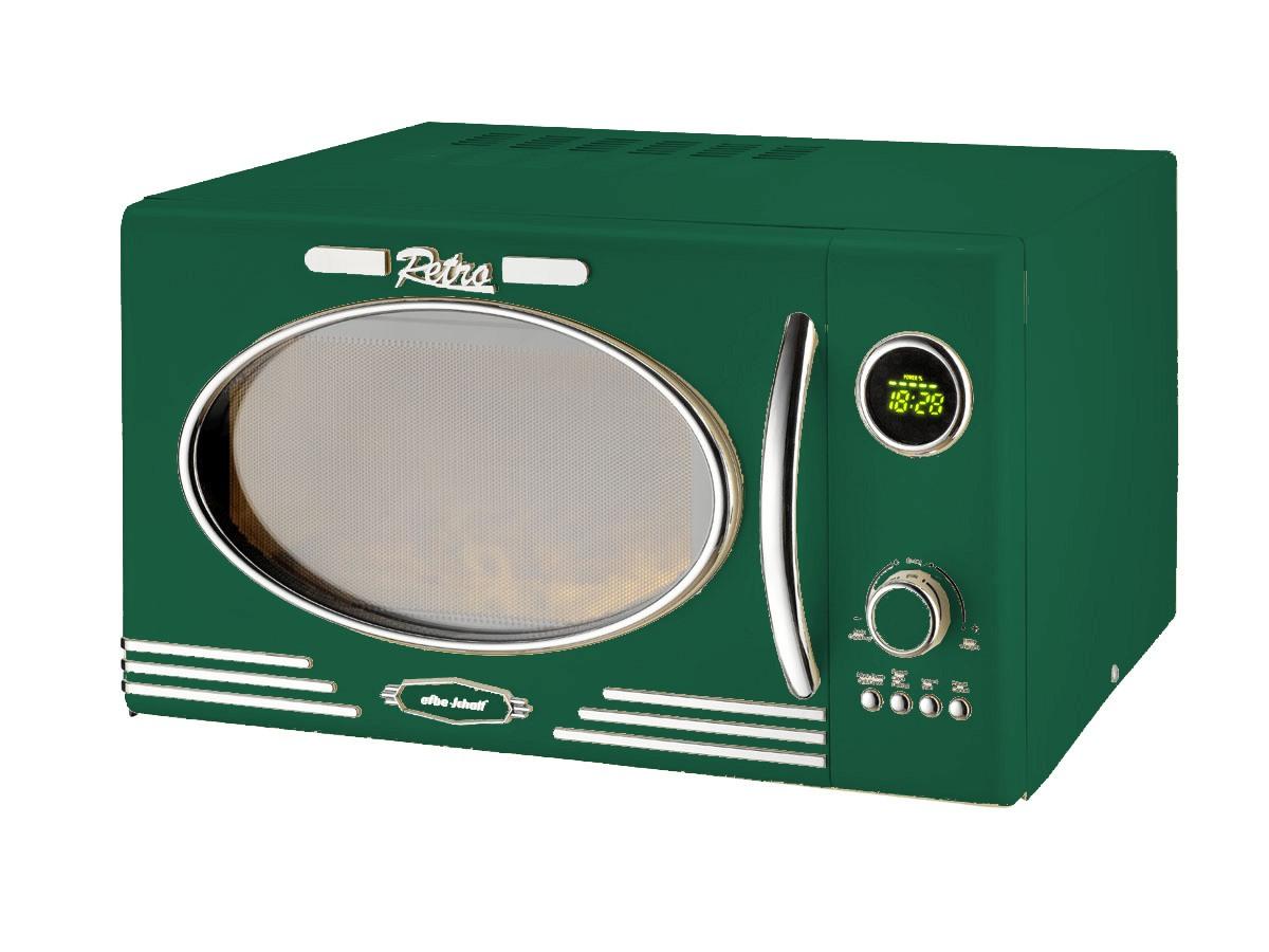 Retro Mikrowelle 1000Watt Grill 25 Liter dunkelgrün Vintage(Karton beschädigt)*63674 Bild 2