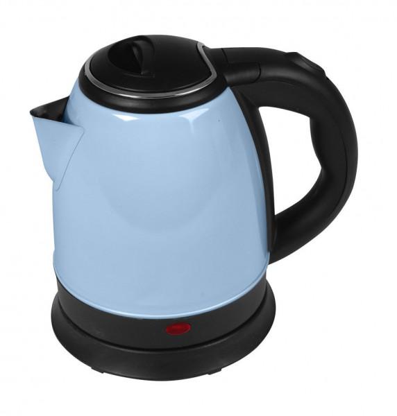 Wasserkocher 1,2 Liter 1500 Watt 360° Mittelkontakt pastell blau (Karton beschädigt)