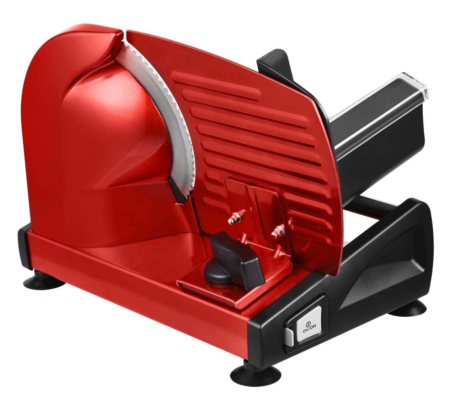 Metall Allesschneider Brotschneidemaschine Edelstahlmesser 19cm Rot*80381 Bild 3