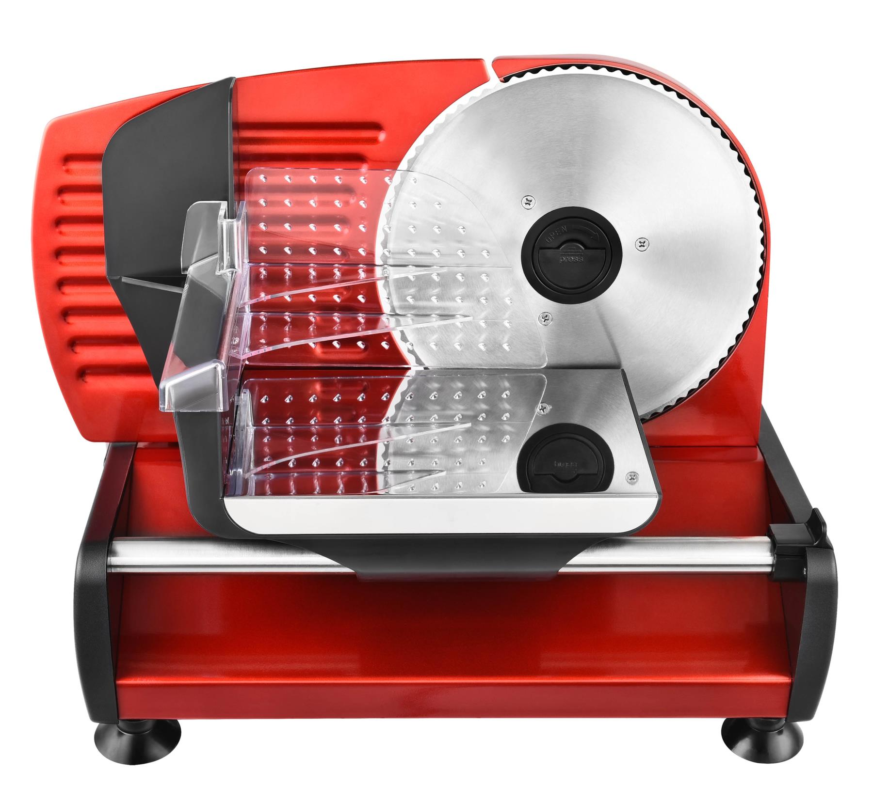 Metall Allesschneider Brotschneidemaschine Edelstahlmesser 19cm Rot*80381