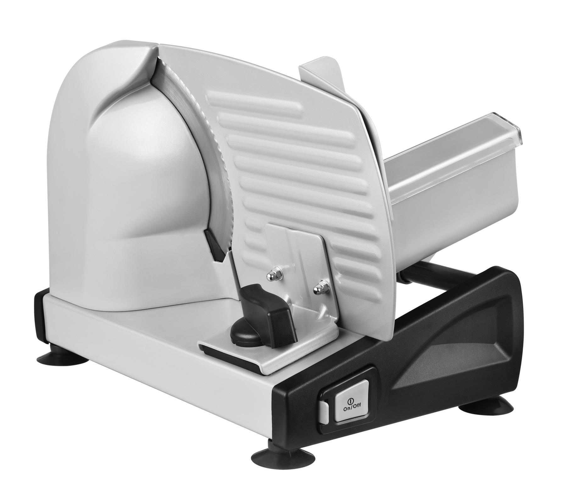 Metall Allesschneider Brotschneidemaschine Edelstahlmesser 19cm Silber*57918 003