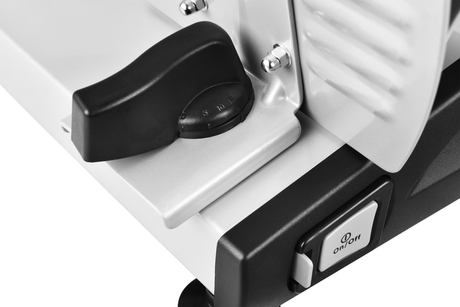 Metall Allesschneider Brotschneidemaschine Edelstahlmesser 19cm Silber*57918 004