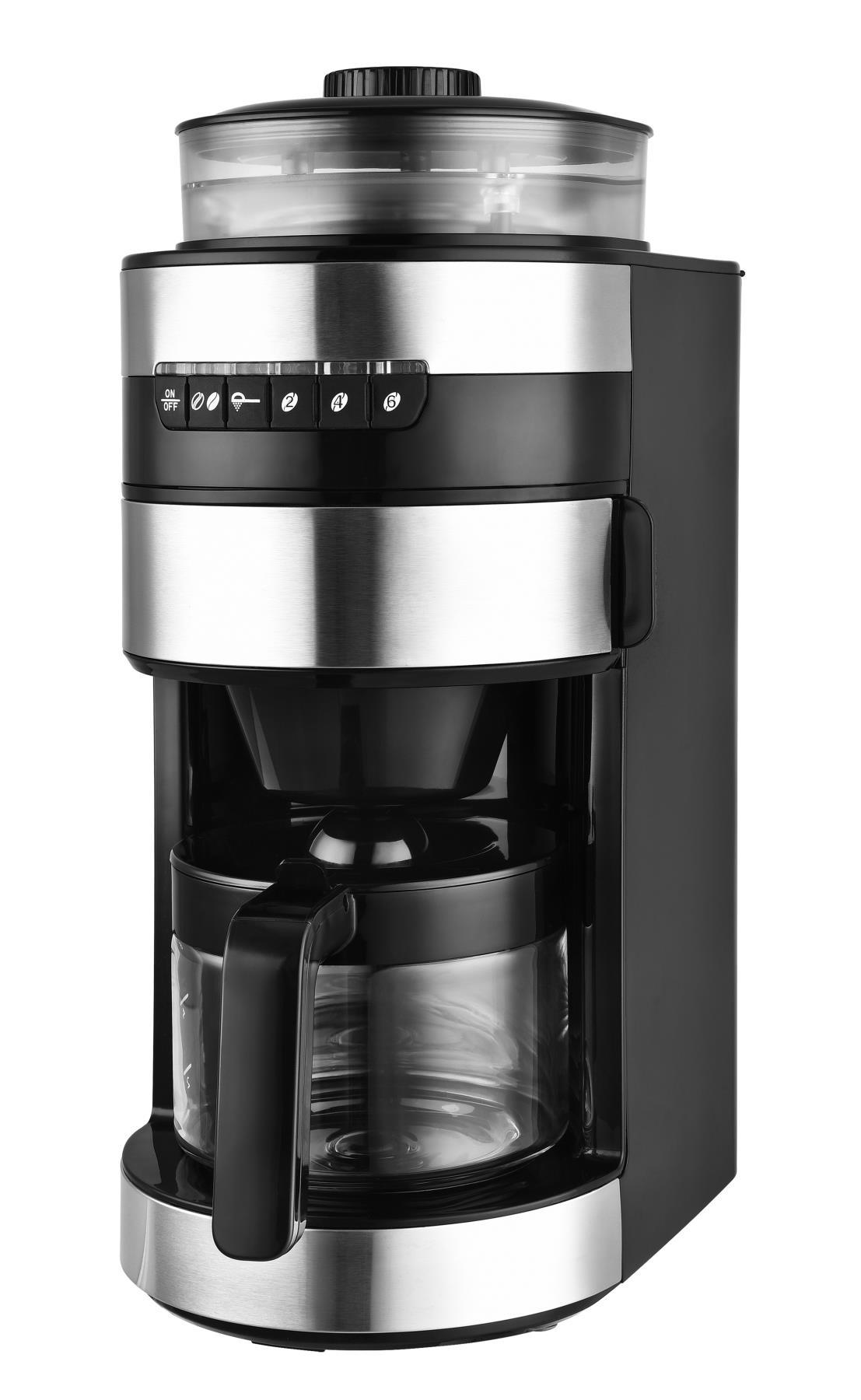 2in1 Kaffeeautomat Mahlwerk Vollautomat Bohnen Mühle 0,85L*42232