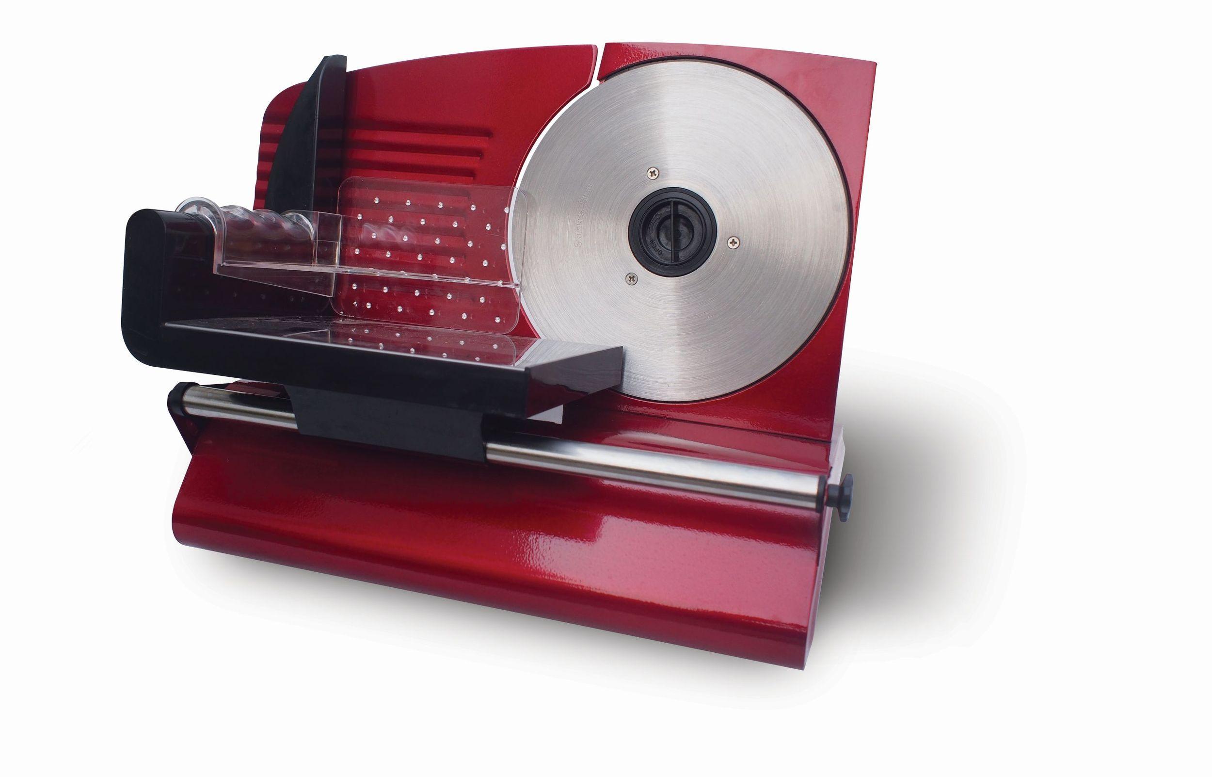 Metall Allesschneider Brotschneidemaschine Edelstahlmesser 19cm Rot*63902