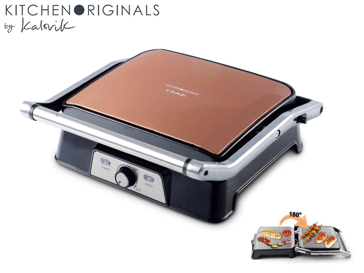 Elektrischer Tischgrill für Panini, Sandwiches, Fisch, Fleisch uvm.